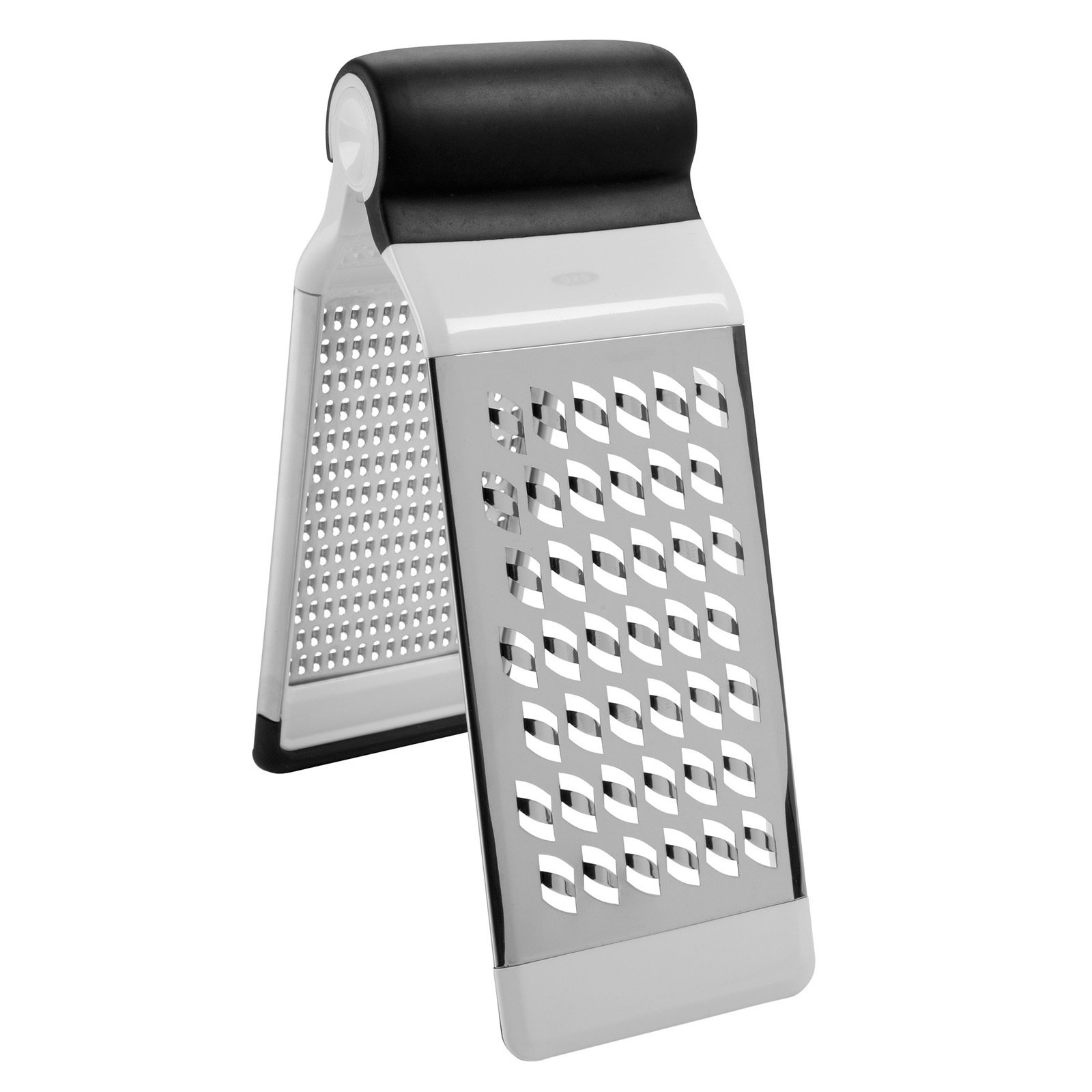 Another space-saving grater is the new Two-Fold Grater, available in November. The tool features a medium and coarse grater that can be positioned like a tent for grating over a cutting board or taken apart to be used one at a time.  New from OXO by Miyoko Ohtake