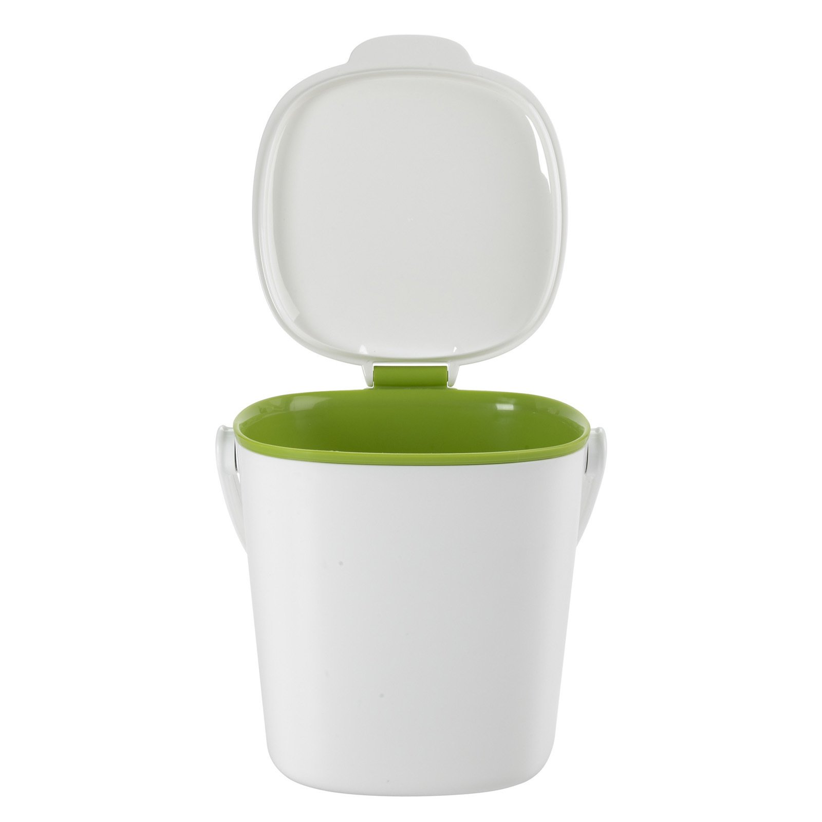 There are so many compost bin designs out there but what makes the OXO Compost Bin great is its simplicity. The bin is an approximately eight-inch cube and weighs just 1.21 pounds. The lid stands open when you're filling it and then removes with a twist for easy emptying and cleaning.  New from OXO by Miyoko Ohtake