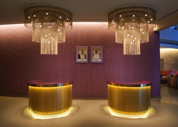 """In an interview with the Huffington Post, Rosita Missoni compared the Edinburgh property to this one: """"The country likes gold, so there is more gold around the hotel including golden fringes around the corridors and chandeliers."""" Photo by Gerry O'Leary."""
