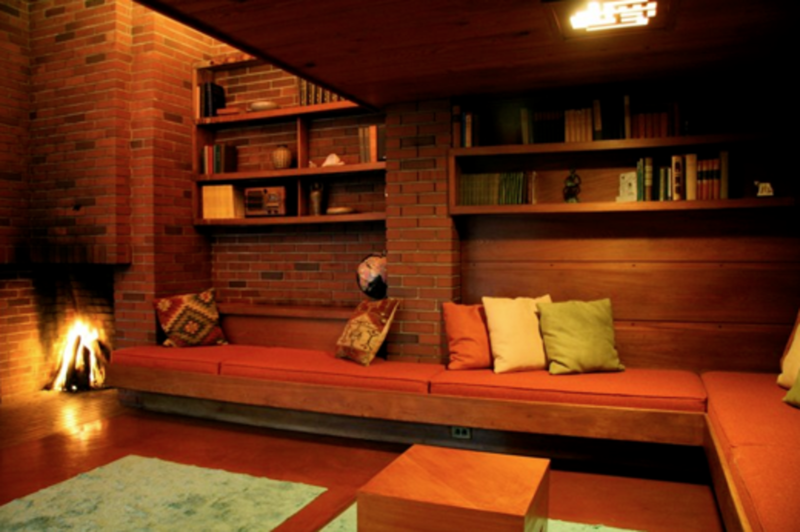 Who wouldn't love a night at Frank Lloyd Wright's Schwartz House?  Photo 2 of 5 in Airbnb Picks