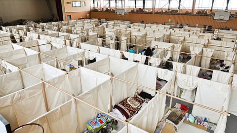Noted architect Shigeru Ban has implemented new and recycled paper tubes for various relief efforts for over a decade. Today, he uses this simple tool to create temporary partitions for those left homeless.  Photo 3 of 4 in Japan Relief: Designs to Inspire