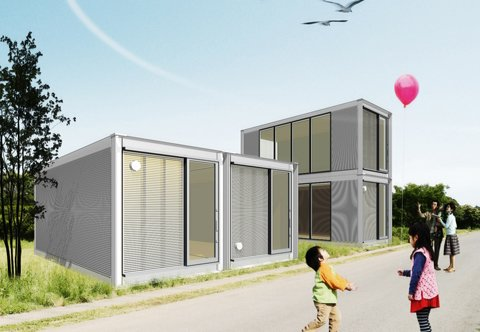 "The term ""resourcefulness"" may embody just what Ex-Container aims to provide for families in need: this project takes structures from ISO shipping containers and restructures them into stackable houses.  Photo 4 of 4 in Japan Relief: Designs to Inspire"