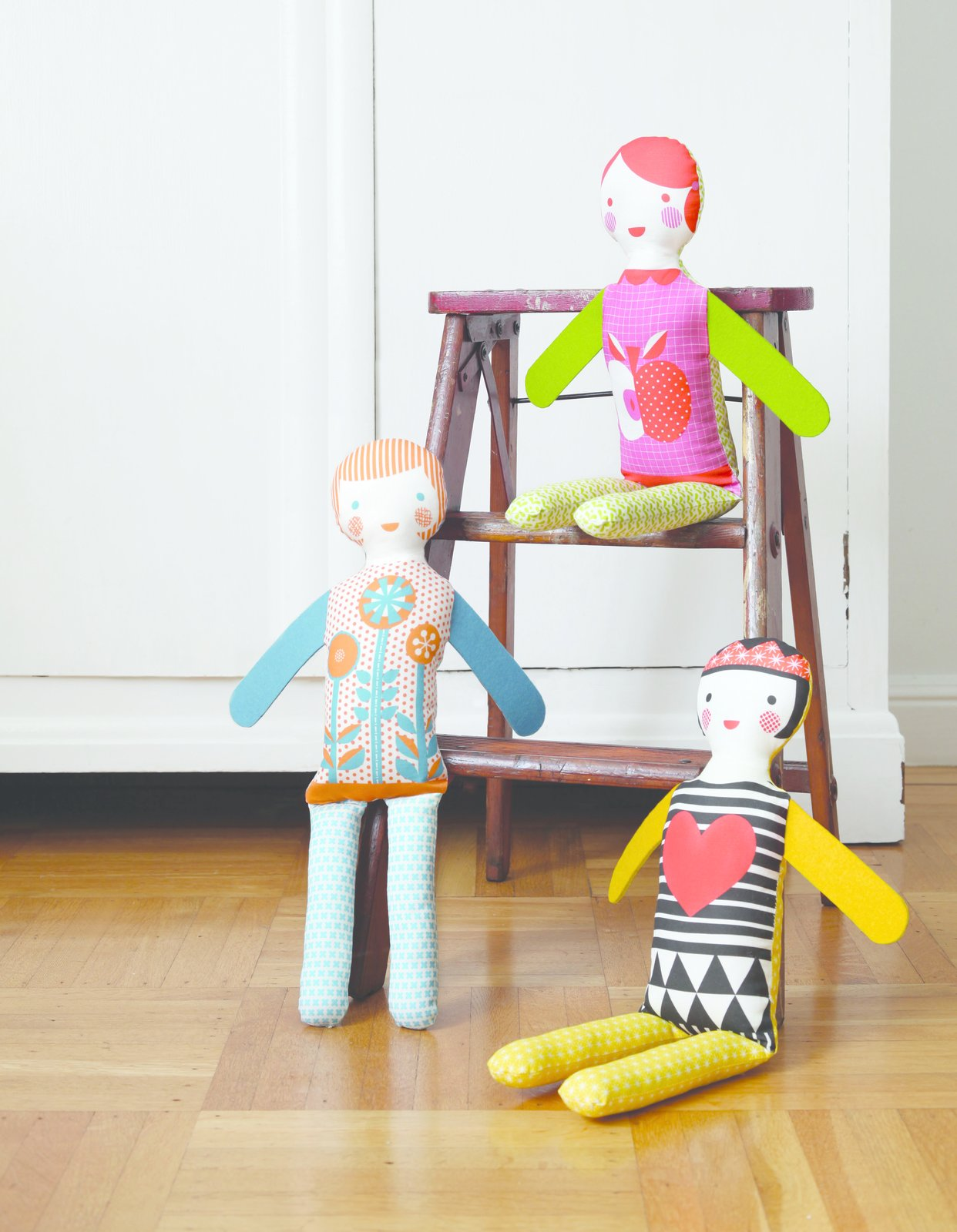 """In October, Petit Collage will launch these cute new """"modern dolls.""""  Photo 5 of 7 in New From Petit Collage"""