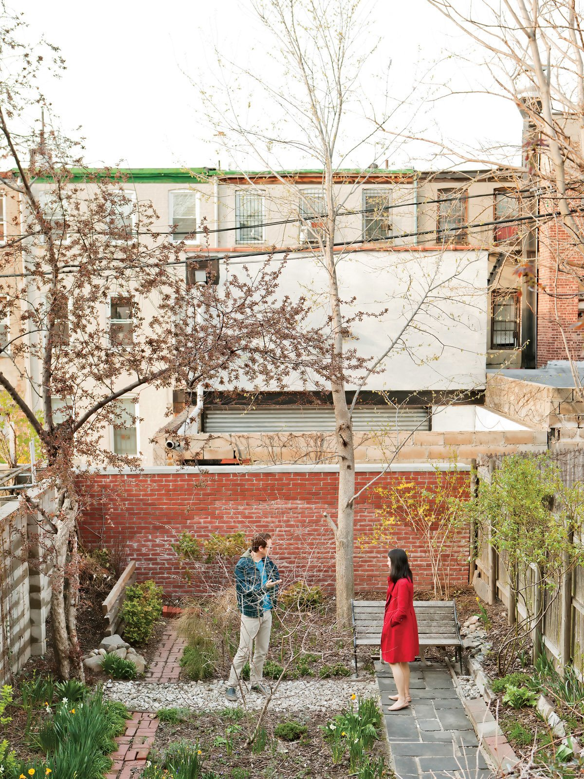 In Brooklyn, Jeff Sherman used rubble bricks and concrete dug up from the backyard and crushed to create his green garden. Catch the story in our Japan Style issue on newsstands now!   Don't miss a word of Dwell! Download our  FREE app from iTunes, friend us on Facebook, or follow us on Twitter!  Seven Great Outdoor Spaces by Miyoko Ohtake