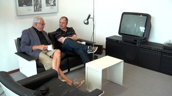 On September 21, director Gary Hustwit (shown here on the right with designer Dieter Rams in a still from his design documentary Objectified) will be screening his new film Urbanized at the Sundance Kabuki Cinemas.