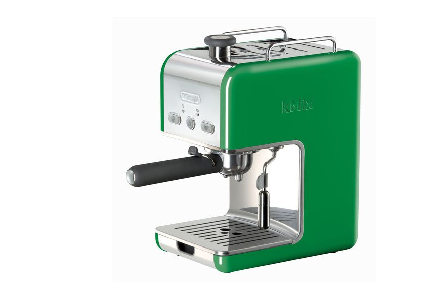 De'Longhi's colorful KMix collection includes both a coffee maker and a Pump Epresso Maker. The dual-function filter holder is sized for either E.S.E. pods or ground espresso so the choice is up to you ($130).  Photo 1 of 9 in kMix by De'Longhi