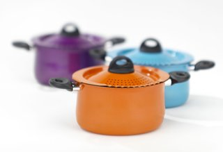 The Pasta Pot is now available in orange, blue, and purple.