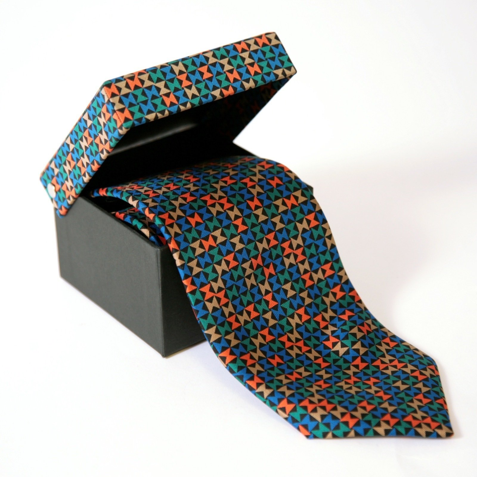 The Pinwheel pattern reappears in a different form on this graphic silk tie.  Photo 4 of 5 in Inspired by the Miller House