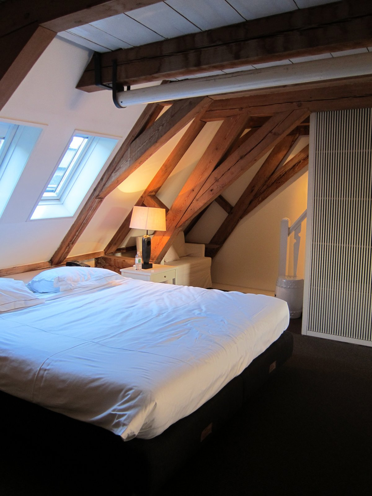 This was my room, set into the upper floor of a historic canal house. A very cozy and appealing spot to land after a long transatlantic flight.  The Dylan, Amsterdam by Jaime Gillin