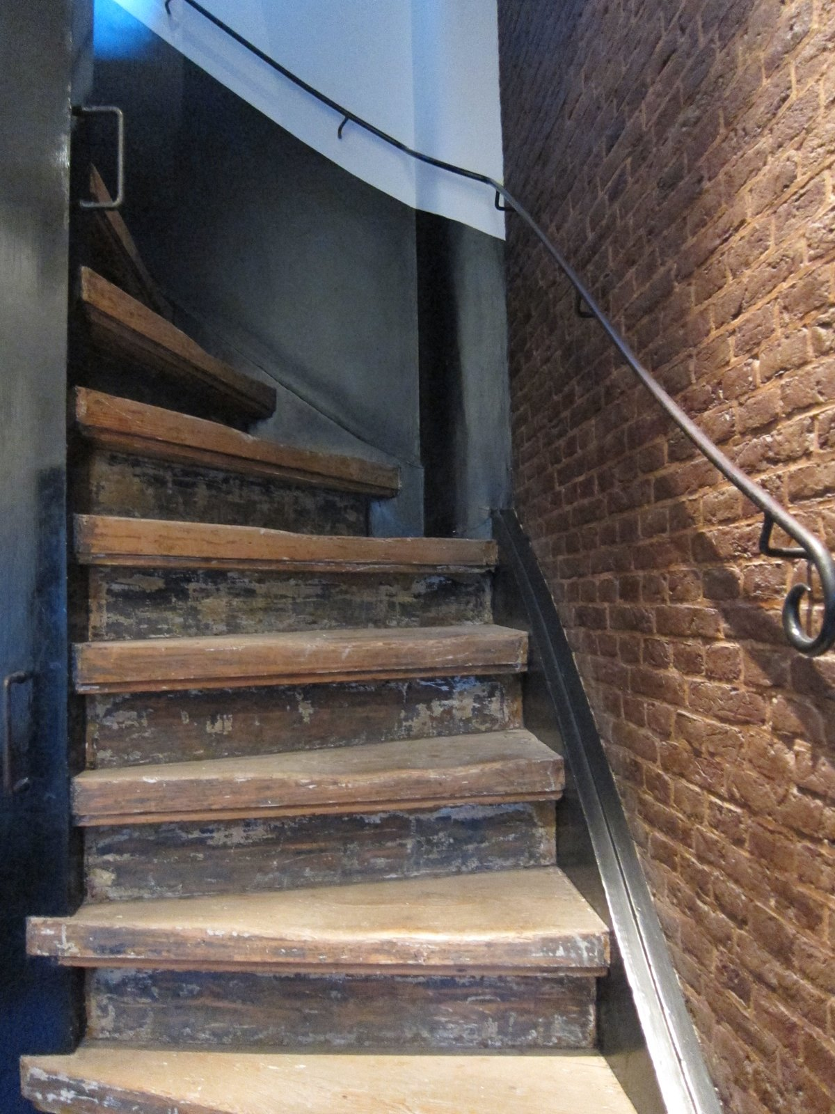 Throughout the hotel are original historic details, including this steep twisting staircase that led from the main floor of the hotel to the second floor (yes, there is also an elevator!).  The Dylan, Amsterdam by Jaime Gillin