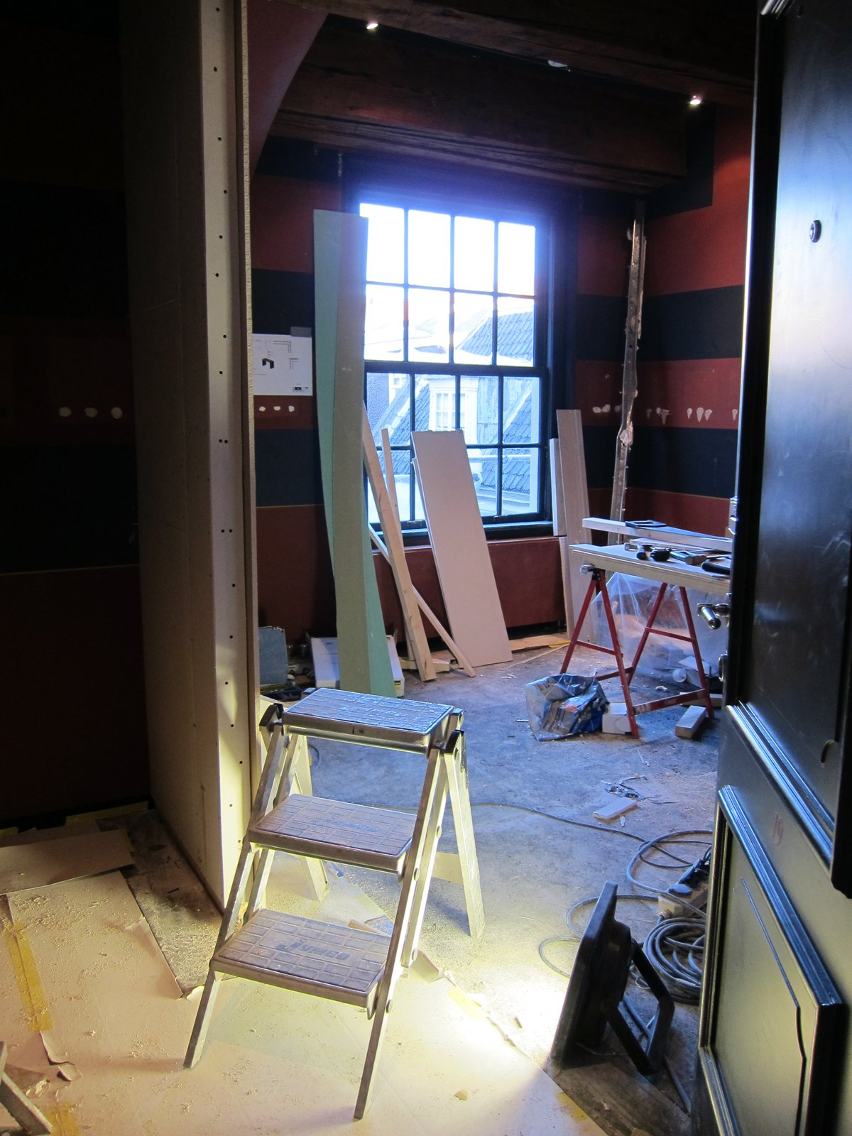 While I was staying at the hotel ten rooms were still under renovation, but I stole a peek into one of them—very much still a work in progress...  The Dylan, Amsterdam by Jaime Gillin
