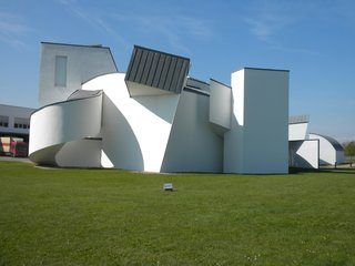 Though Basel boasts a big list of amazing museums, I was most excited to head to the Vitra Design Museum (shown here) and Vitra campus located in Weil-am-Rhein, Germany, a 25-minute bus ride from Basel's city center. When I was there, the museum was showing a fantastic exhibit about modern design photographers Aldo and Marirosa Ballo titled Zoom. Frank Gehry's museum building is one of the earlier buildings on the Vitra campus, completed in 1989.