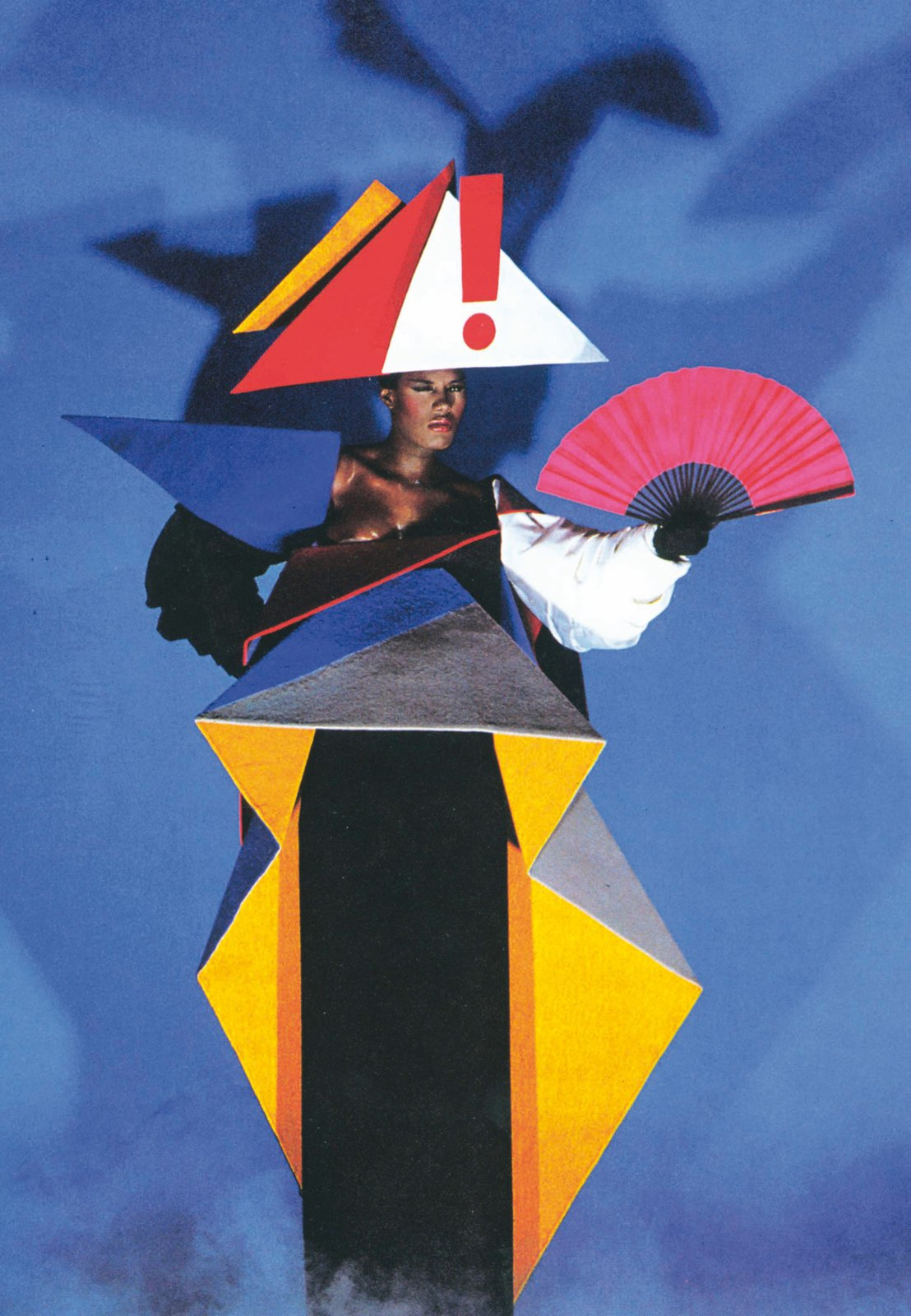 """Jean-Paul Goude and Antonio Lopez, Maternity dress for Grace Jones, 1979. © Jean-Paul Goude  Photo 10 of 12 in """"Postmodernism"""" at the V&A Museum"""