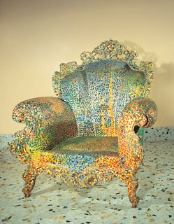 The Proust Chair was the first in Mendini's Redesigns series, which incorporated his theories on the importance of historical context in design.