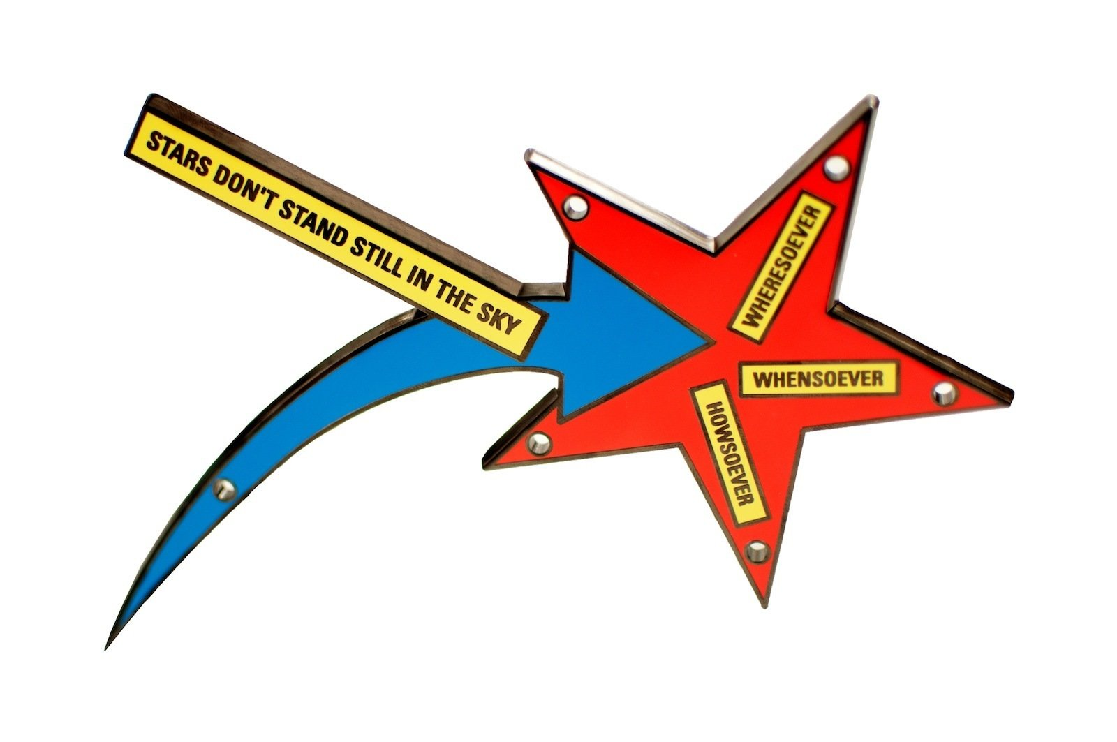Stars Don't Stand Still in the Sky, by Lawrence Weiner  Photo 6 of 6 in Q&A with Artspace Founder