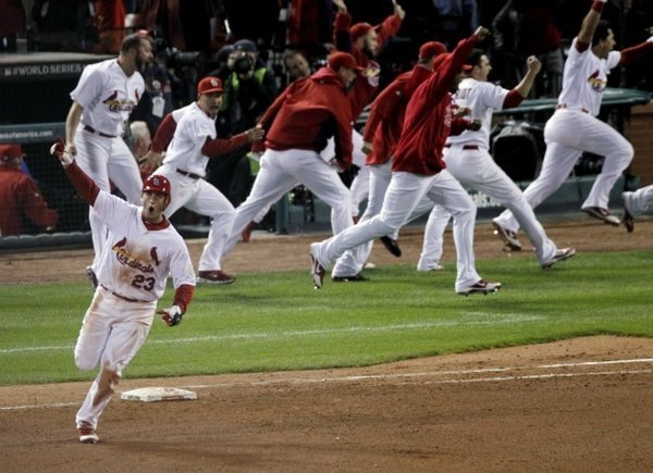 The Cardinals won Game 6 of the World Series 10-9 in 11 innings—one of the best games in the history of baseball.