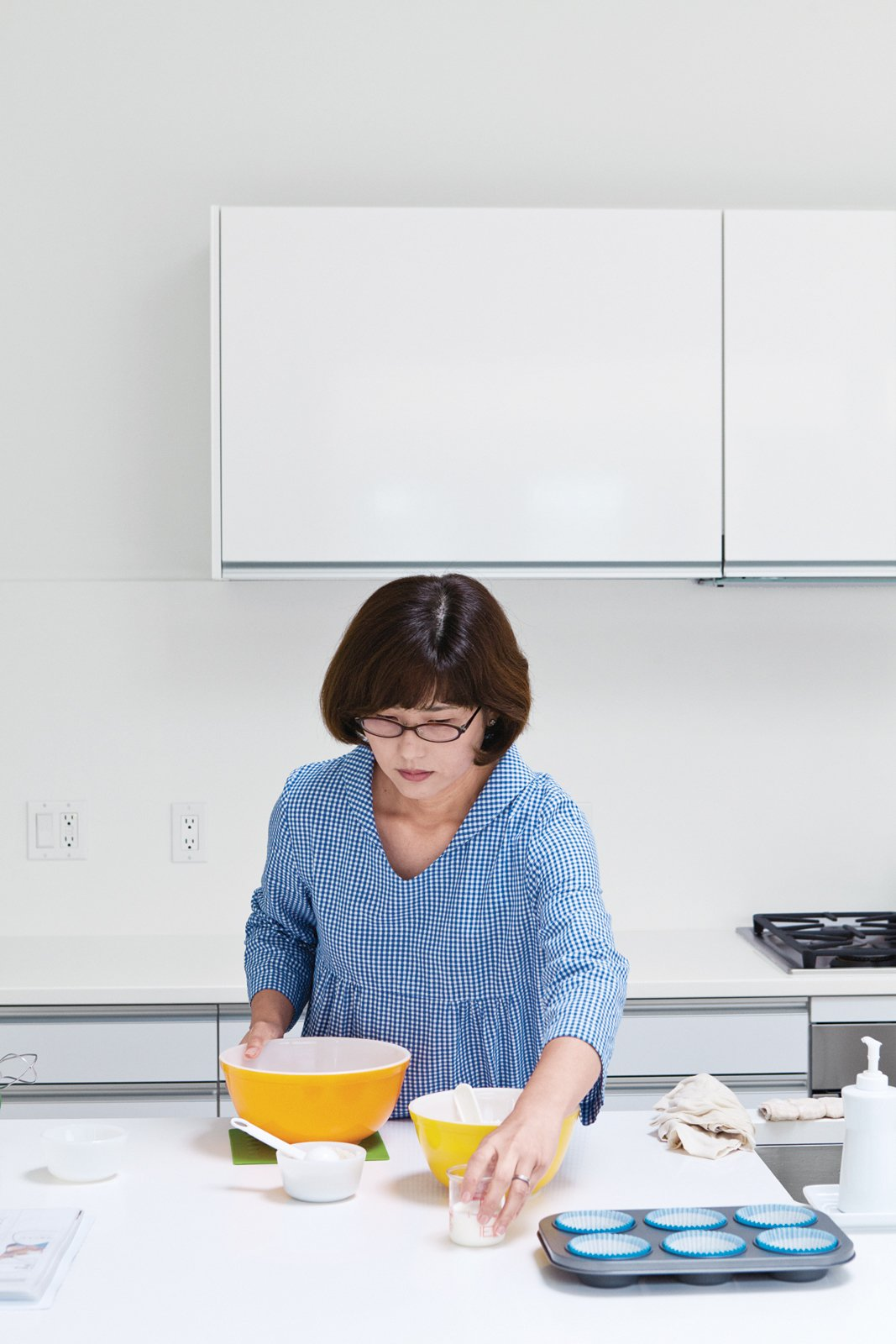 Shoku enjoys cooking.  Kitchen from Looking Inward