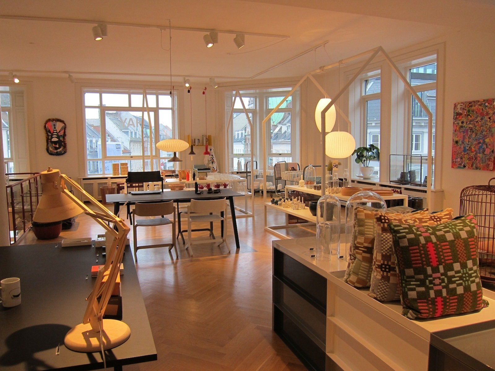 The fun continues upstairs; here's a view of the second floor.  A Visit to HAY Copenhagen by Jaime Gillin