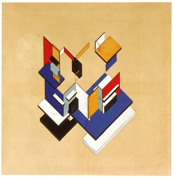 """Theo van Doesburg, """"Counterconstruction,"""" 1923, gouache on collotype, 57 x 57 cm. Collection of the Museum of Modern Art, New York, Edgar J. Kaufmann Jr. Fund 1947  Don't miss a word of Dwell! Download our  FREE app from iTunes, friend us on Facebook, or follow us on Twitter!"""