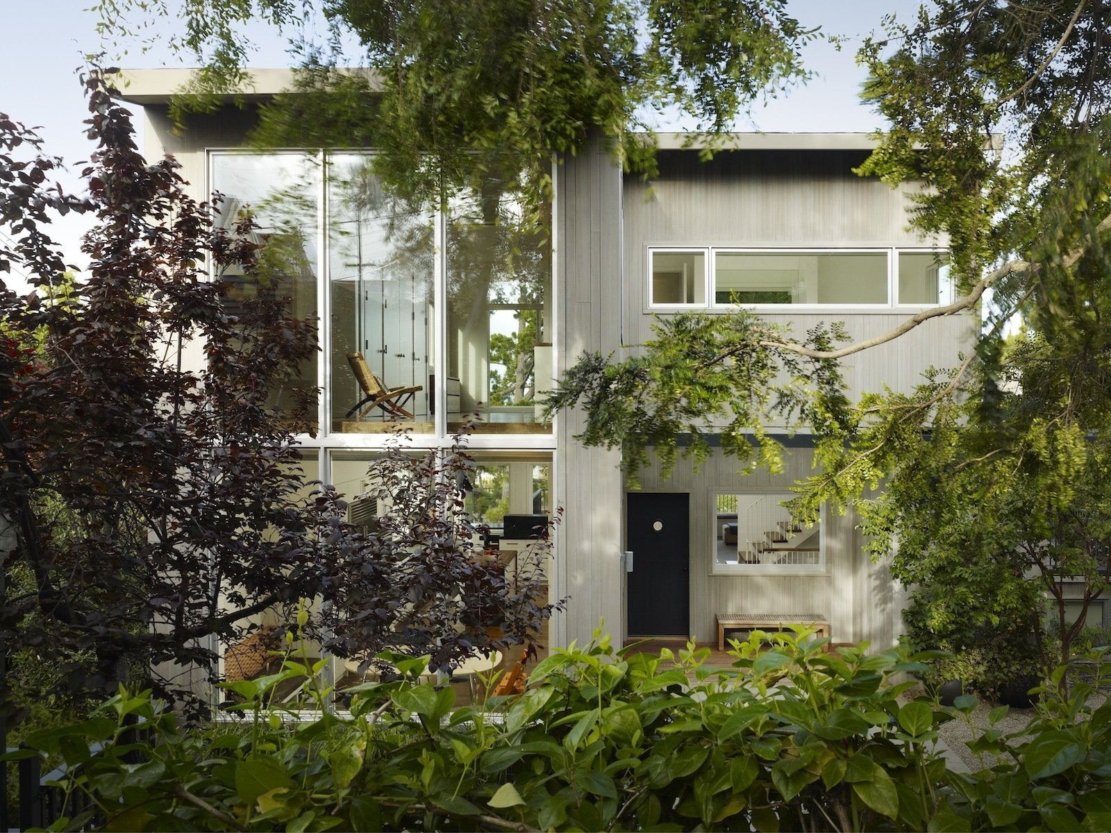 A third floor addition and whole-house renovation modernized a funky cottage on an unusual, triple-wide lot in San Francisco.  2nd floor from A Potrero Hill Renovation