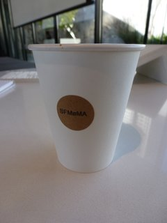 Dykers went on and on about the Blue Bottle coffee served at his presentation. Clearly SFMOMA is tipping its cap to Snøhetta with the modified O on the coffee cups.