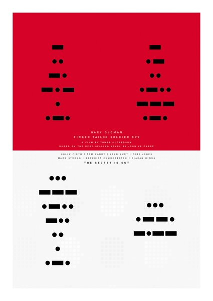 The title rendered in Morse code.