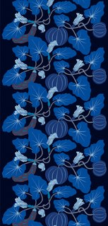 The Kumina design was also featured in the Dwell and Marimekko Contest, though not in this blue colorway.