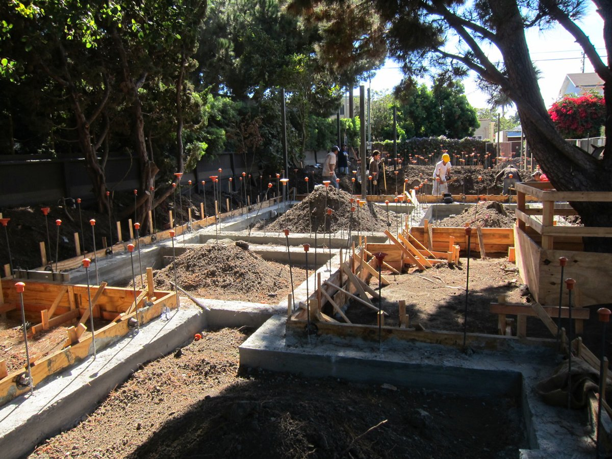 The concrete footings have cured and now preparations will begin for the concrete slab pour.  Photo 3 of 4 in Dwell Home Venice: Part 8