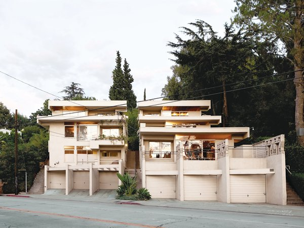 Rudolph Schindler's Bubeshko Apartments in Silver Lake, Los Angeles.