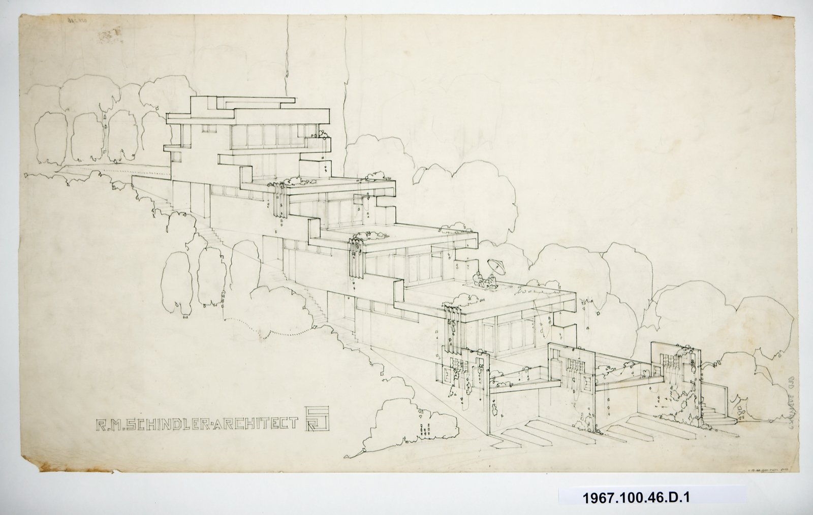 Brand and DeMarie also inherited this early blueprint.  Photo 1 of 10 in The Restored Rudolph Schindler Project That Was Inspired by a Greek Village