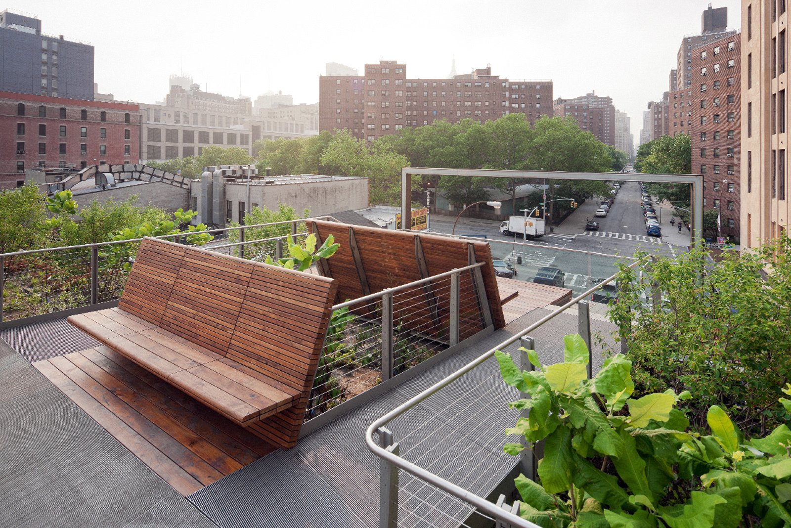West 26th Street Viewing Spur Bench designed by James Corner Field Operations and Diller Scofidio + Renfro  Your city might not be able to replicate New York's High Line , but what about the wooden benches that accompany the uber trendy spot? Designed in-house by Diller Scofidio + Renfro and James Corner Field Operations specifically for the project, a variety of benches provide context for the elevated park at the West 26th Street viewing space.  Street Furniture Your City Wishes it Had by Tim Newcomb
