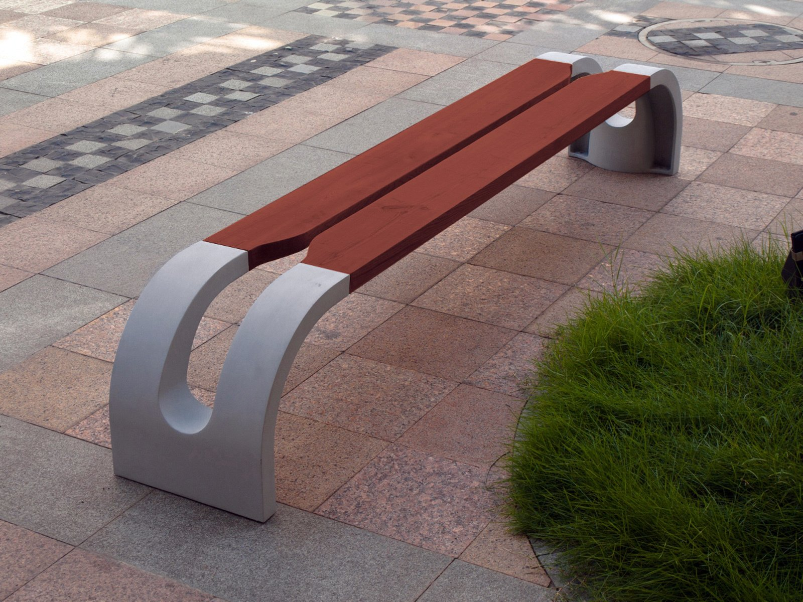 Melbourne Bench by Igor Solovyov  Simple, with a clear silhouette, the cast aluminum and pine wood bench by Belarusian designer Igor Solovyov pops up in urban boasts a modern, yet classical, feel.  Street Furniture Your City Wishes it Had by Tim Newcomb