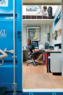 """The top container contains Wardell's office—and a """"napping nook"""" above that."""