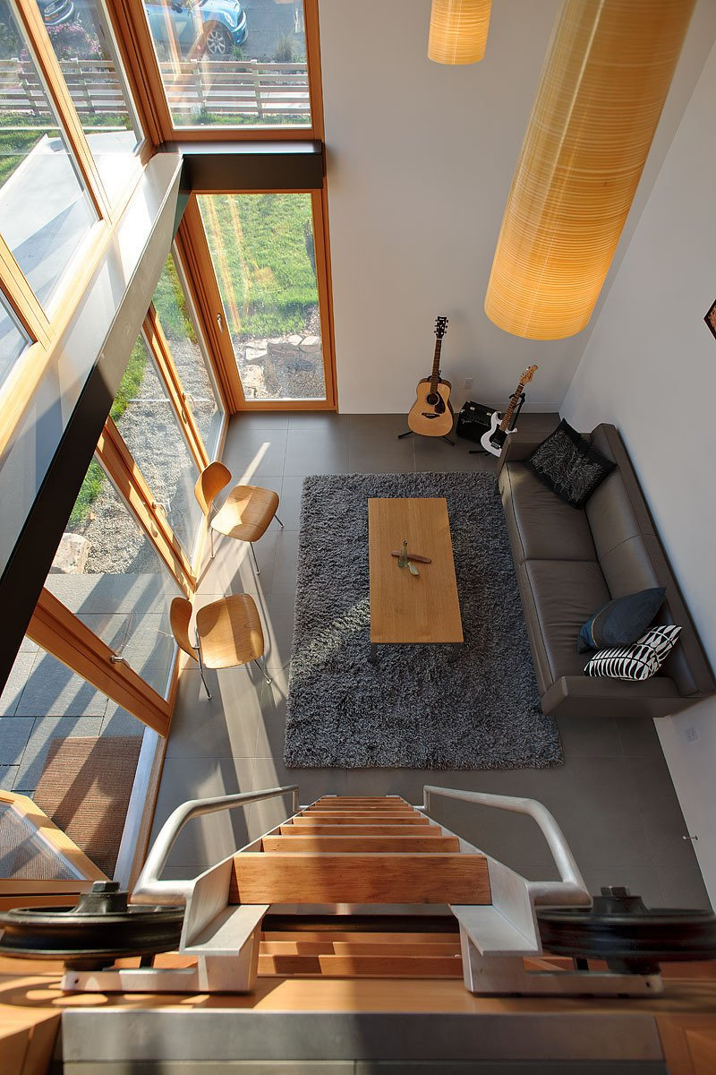 Here's a bird's eye view of the living area from the loft.  Photo 2 of 4 in Garden Pavilion, Seattle