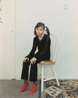 Rineke Dijkstra, Almerisa, Wormer, the Netherlands,  February 21, 1998; 1998; chromogenic print; 49 3/16 in. x 41 5/16 in. ; Courtesy the artist and Marian Goodman Gallery, New York & Paris; © Rineke Dijkstra