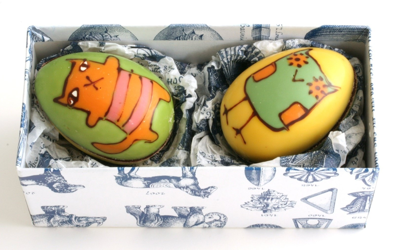 Wilson's chocolates—including this rendition of the Owl and the Pussycat— are nearly too pretty to eat.  Photo 1 of 3 in Donna Wilson Chocolates