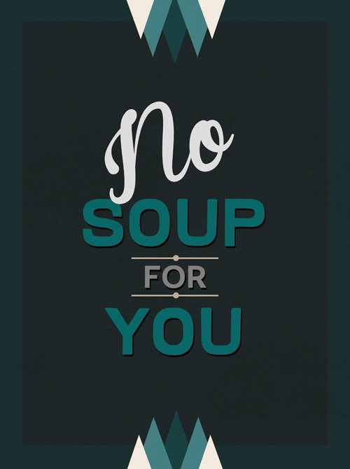 None.  Seinfood Posters by Aaron Britt