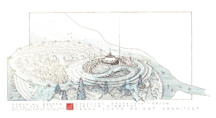 Frank Lloyd Wright, Plan for a Greater Baghdad, 1957-1959, Baghdad, Iraq  Photo 2 of 10 in Architecture in Baghdad