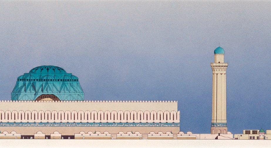 Venturi, Rauch and Scott Brown, Project for the Competition for a National Mosque of Baghdad, 1982, Baghdad, Iraq  Photo 8 of 10 in Architecture in Baghdad