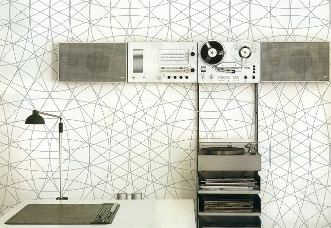 The graphic Rosace print which nicely complements, say, a Dieter Rams sound system.  Photo 2 of 3 in Fantastical Walls