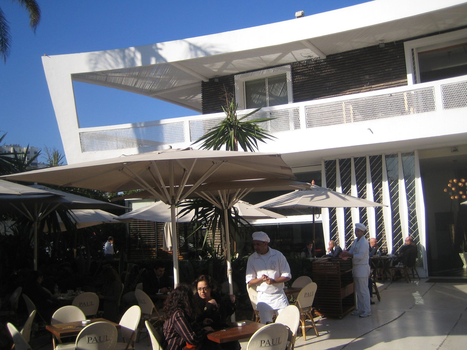 I noticed a bunch of expats and French in the crowd while I was sitting on the terrace. And all the architecture buffs I talked with in Casablanca told me that I must get to Chez Paul. It's address is Angle Boulevard d'Anfa at Boulevard Moulay Rachid.  Photo 4 of 5 in Villa Zevaco