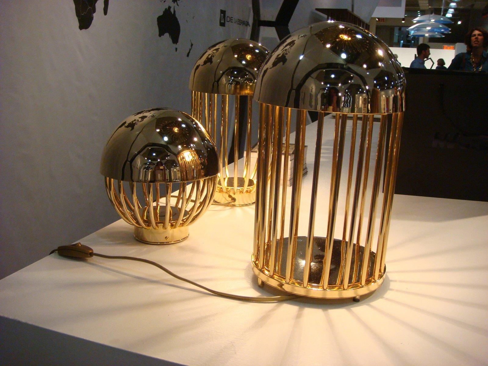 Autoban's new collection for De La Espada included these gold-plated Pill lamps. Though not brass, the objects are indicative of the warmed-toned metallics we saw throughout the fair. (Read more about the Turkish design duo here.)  ICFF 2012: Brass Tactics by Amanda Dameron