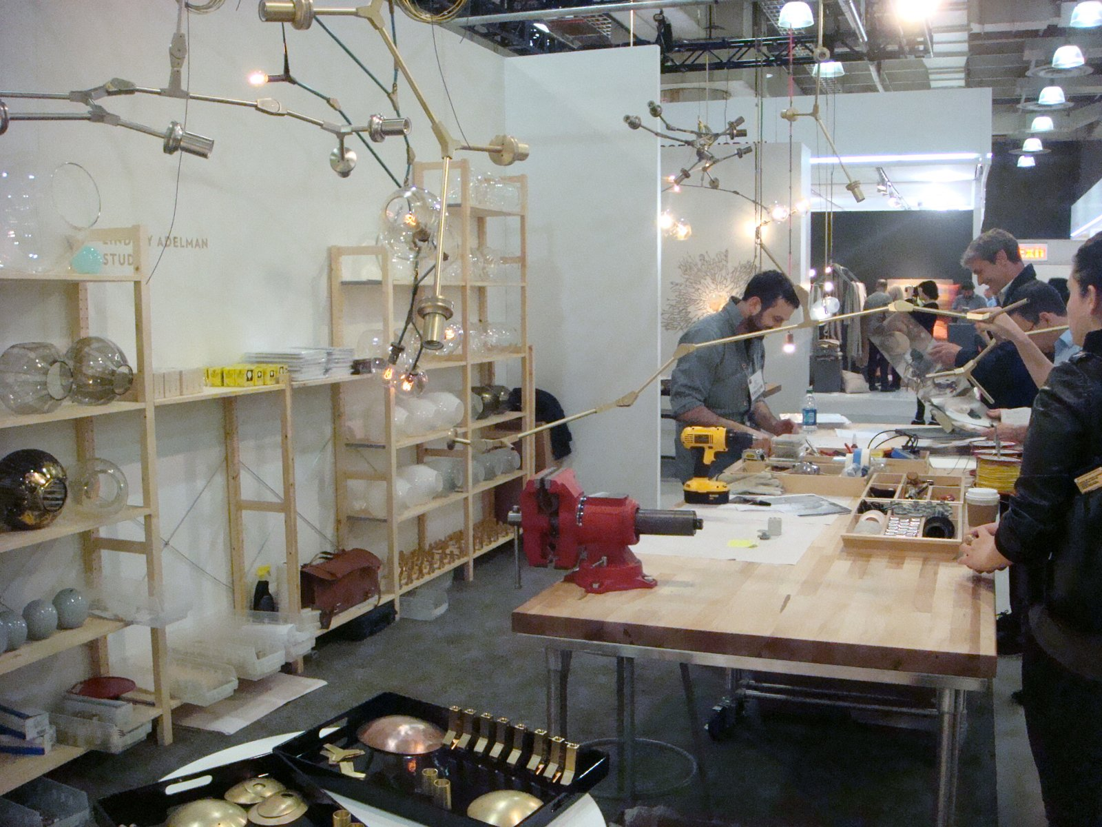 Here's a shot of the demonstration space.  ICFF 2012: Brass Tactics by Amanda Dameron