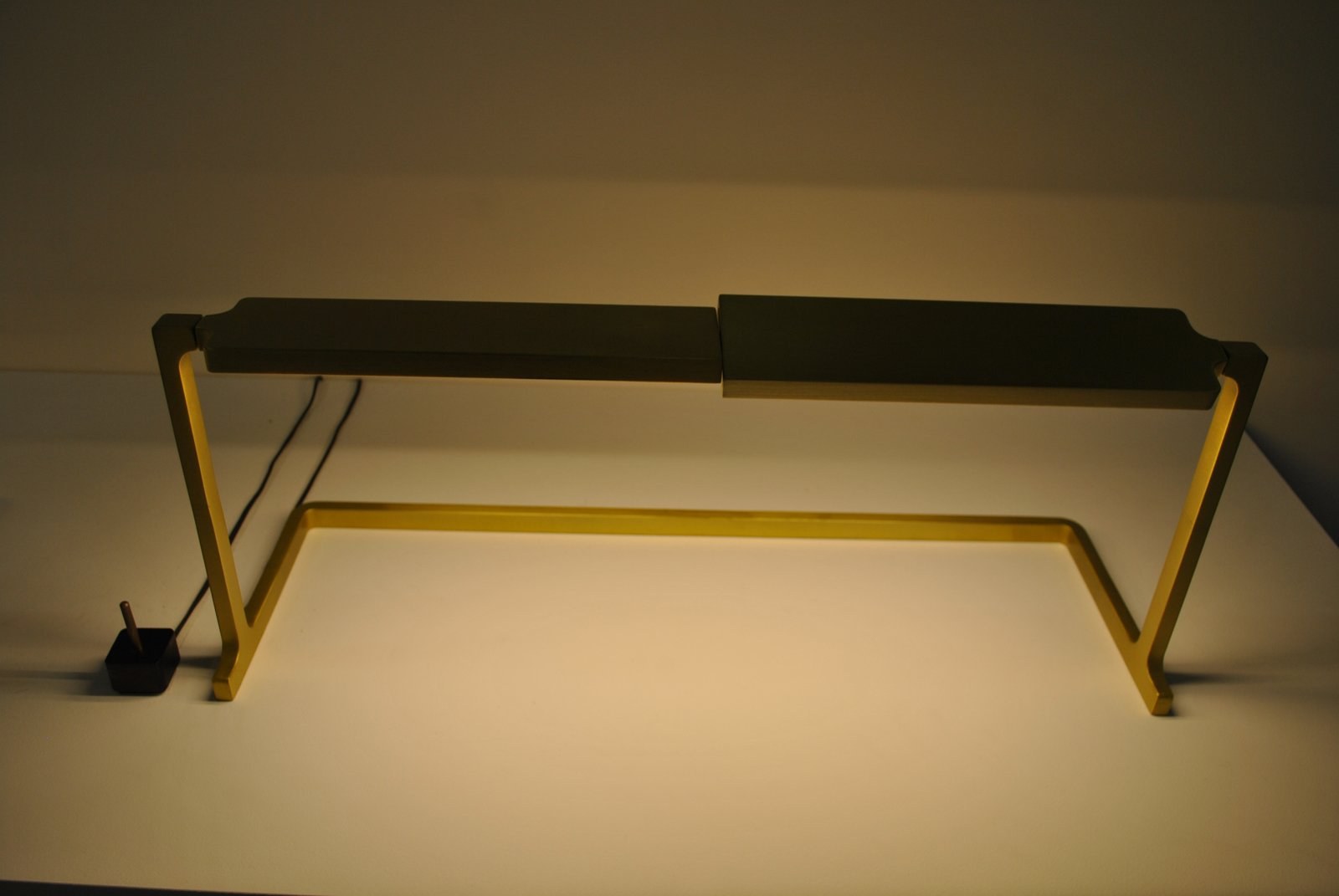 Steve Oh's LED Haven lamp comes in aluminum or brass (the latter shown here).  ICFF 2012: Brass Tactics by Amanda Dameron