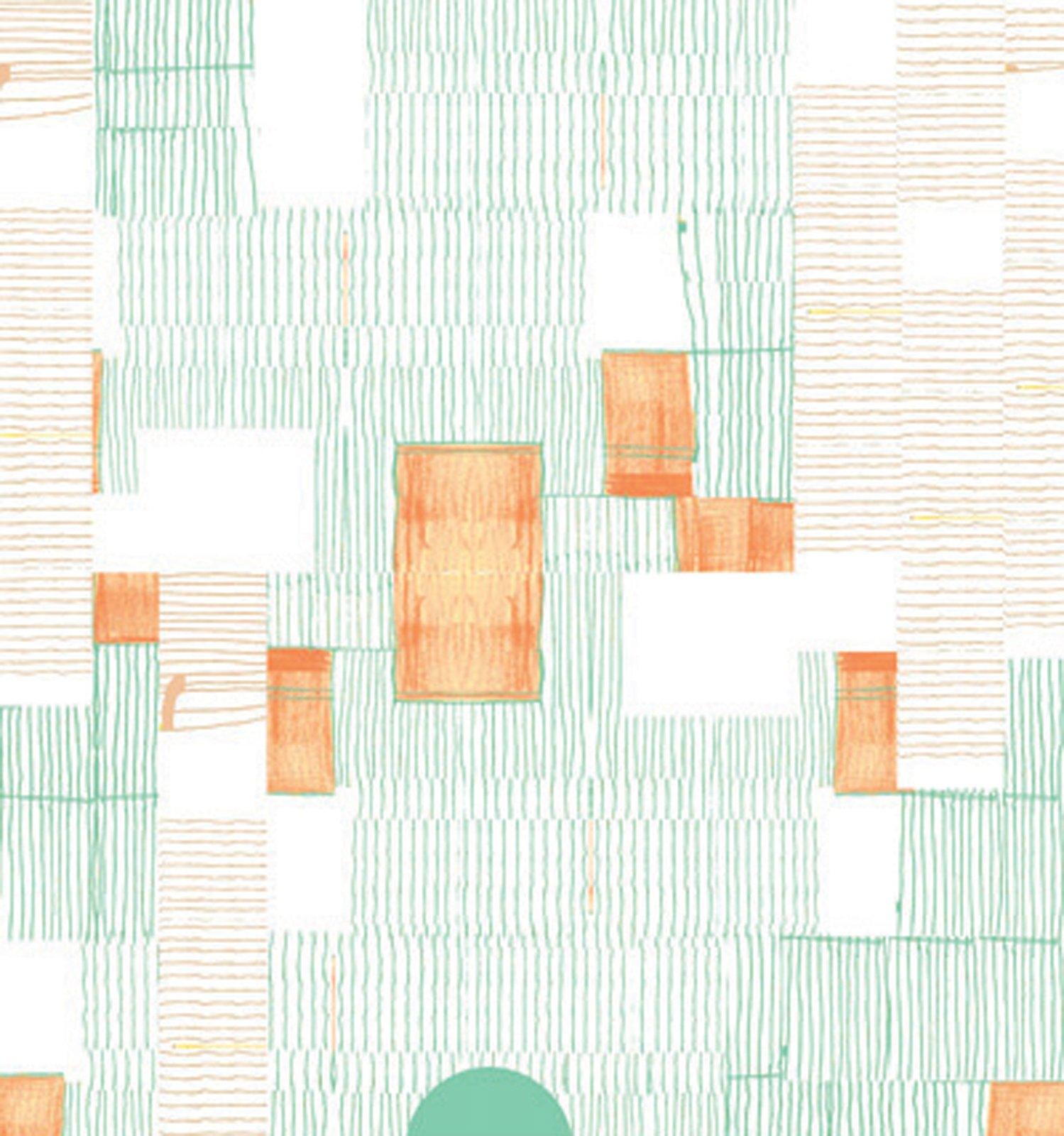 Renée Rossouw's South African heritage shines through in her bright, earthy designs. Working under Surface Design company, Robin Sprong Wallpaper, everything is imported from Germany and printed locally.  Mint Blanket is lightly geometric and would add a quirky edge to the kitchen or breakfast nook. The orange and mint color combination is surprisingly fantastic. $43 per three square feet.  New-Wave Wallpapers by Olivia Martin