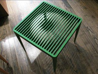 """""""Turntable"""" slatted table."""