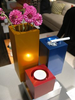 """""""Lumen"""" multi-colored vase, candle holder and ash tray."""
