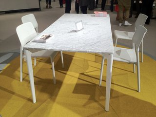 Knoll debuted a new marble-topped outdoor table by Daniel Stromborg at this year's ICFF (paired with chairs Don Chadwick chairs the young designer worked on when he was part of Chadwick's studio!).