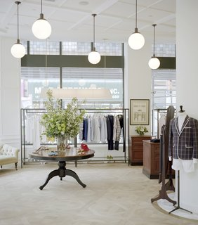 On the ground floor, the hoteliers have made space for a boutique, the first New York outpost of French clothier Maison Kitsuné. The space was designed by a collaborative team including label co-founder Masaya Kuroki, designer Anna Vignale, and TBD Architecture & Design Studio.