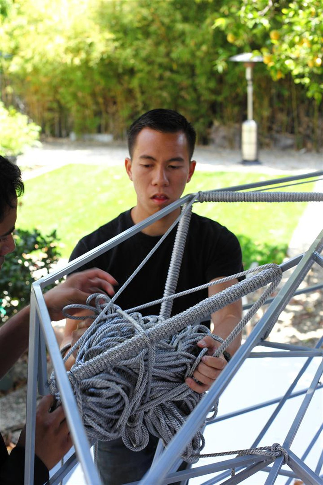 Managing large bundles of rope while looping has become one of the challenges of this process. Photo by Clifford Ho.  Photo 5 of 7 in The Making of Screenplay: Part 9